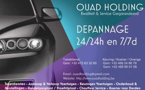 takeldiensten Antwerpen OUAD TRANSPORT